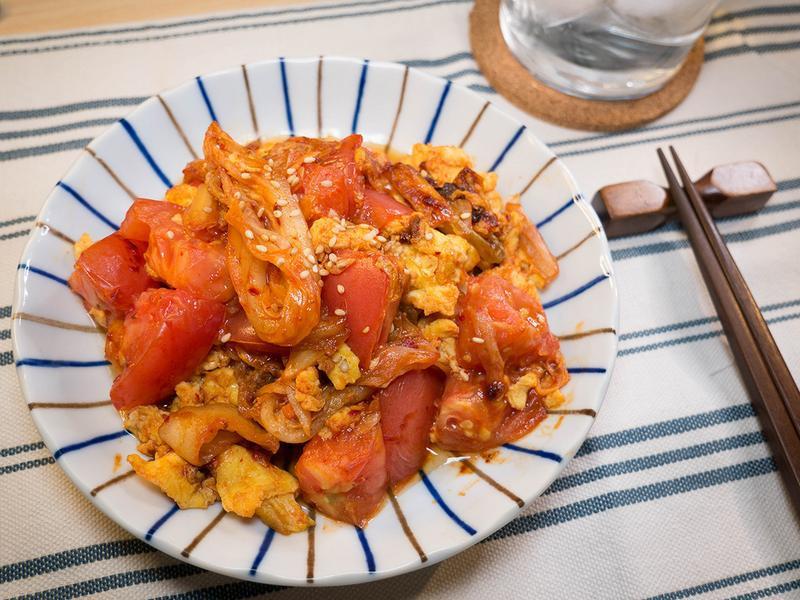 韓式泡菜番茄炒蛋