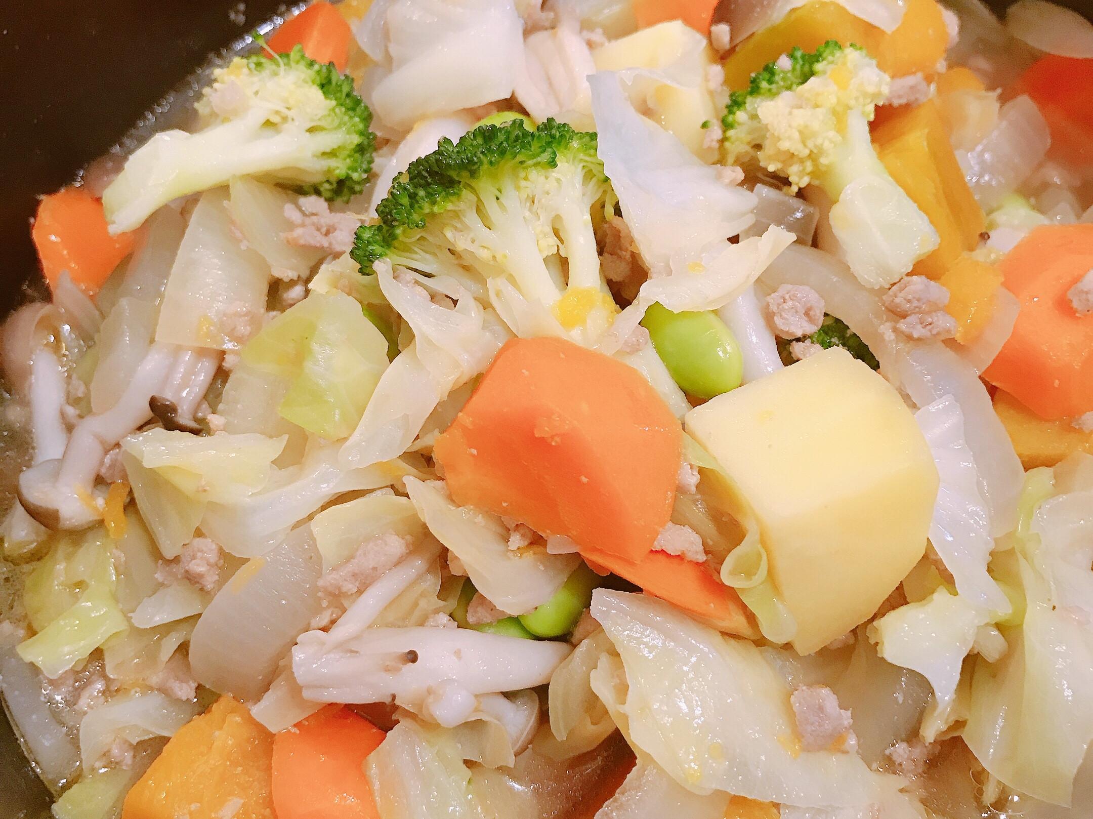 南瓜馬鈴薯燉肉末