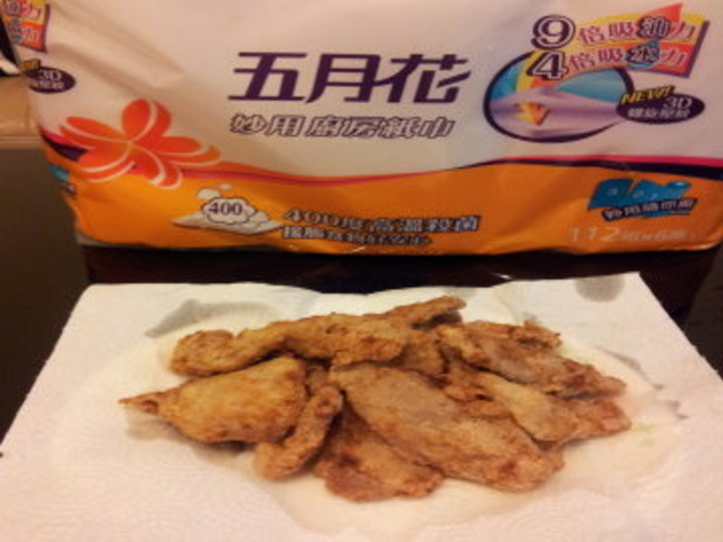五月花妙用廚房紙巾~炸雞柳不再讓廚房油膩膩