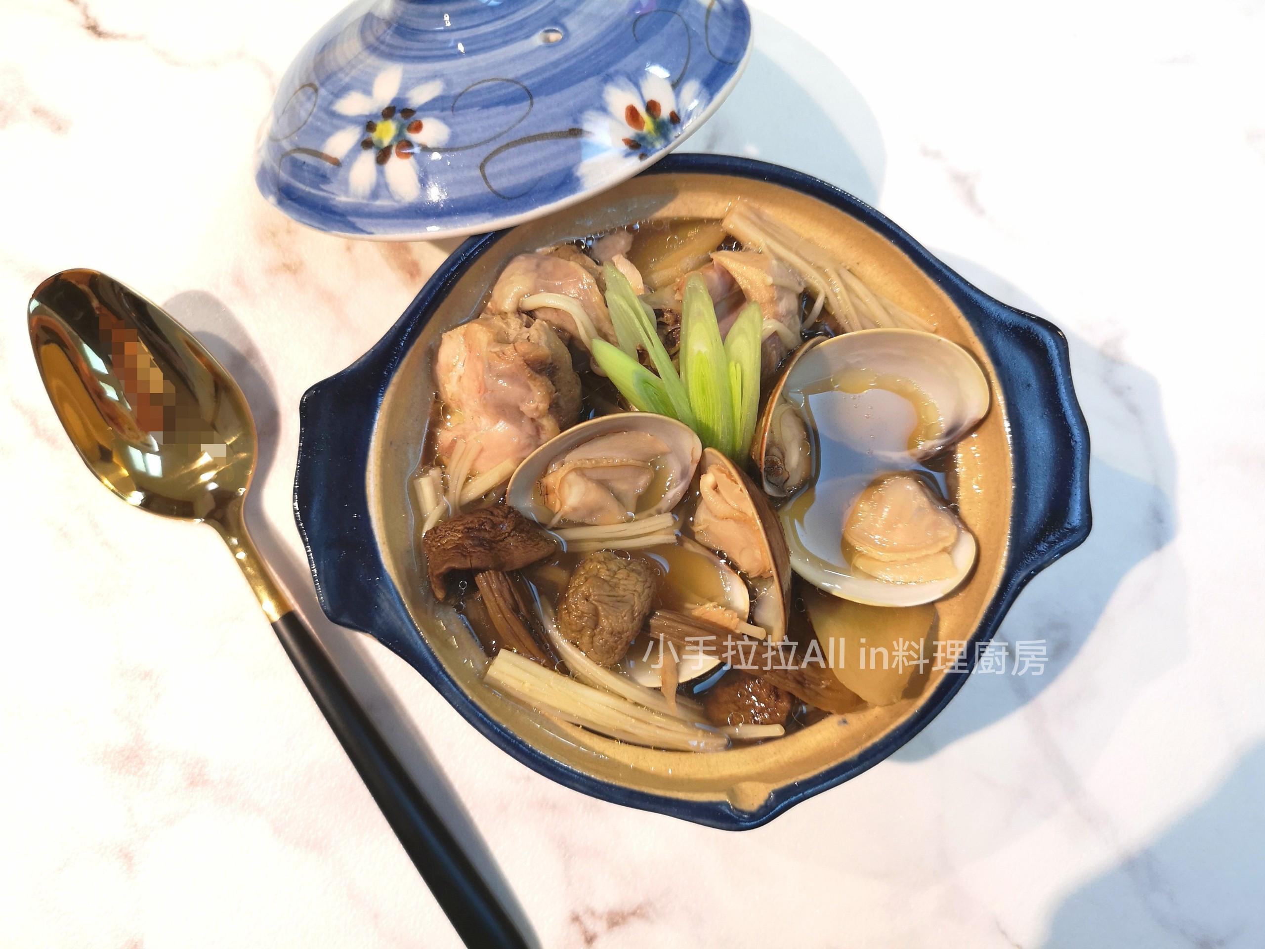 巴西蘑菇蛤蜊雞湯