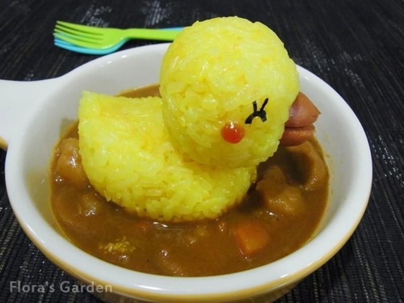 五分鐘做【黃色小鴨】造型咖哩餐