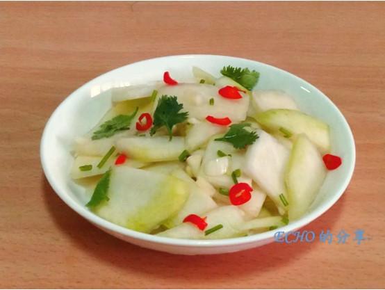 簡單不敗無油煙料理-涼拌大頭菜(結頭菜)
