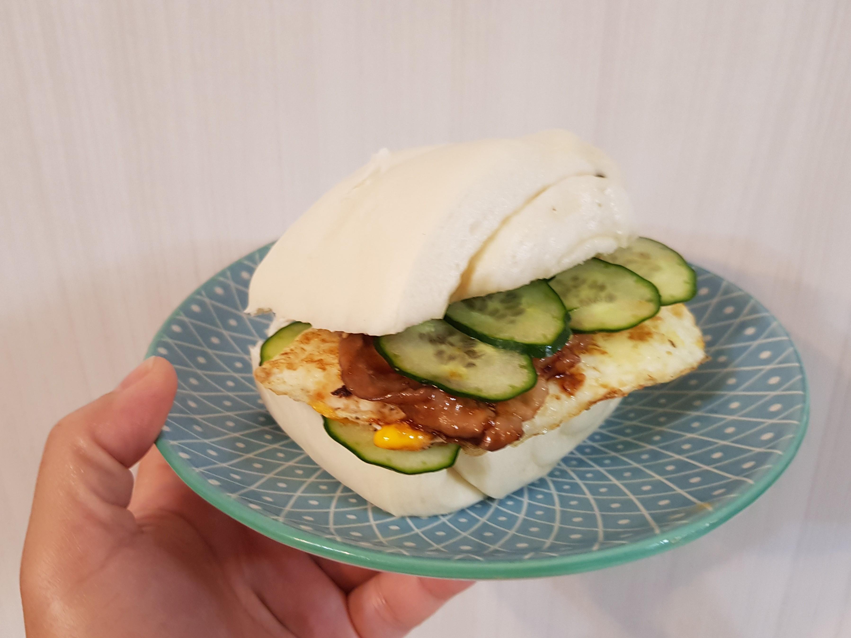饅頭燒肉蛋三明治