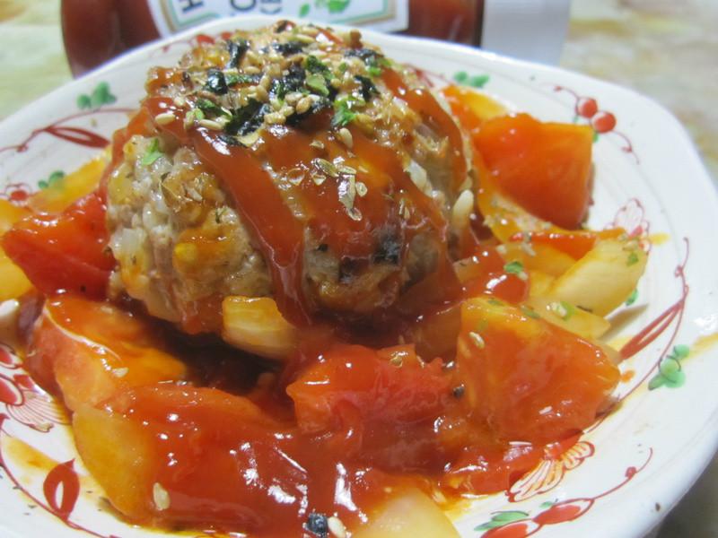 100%純天然亨氏番茄醬-漢堡肉球佐蕃茄