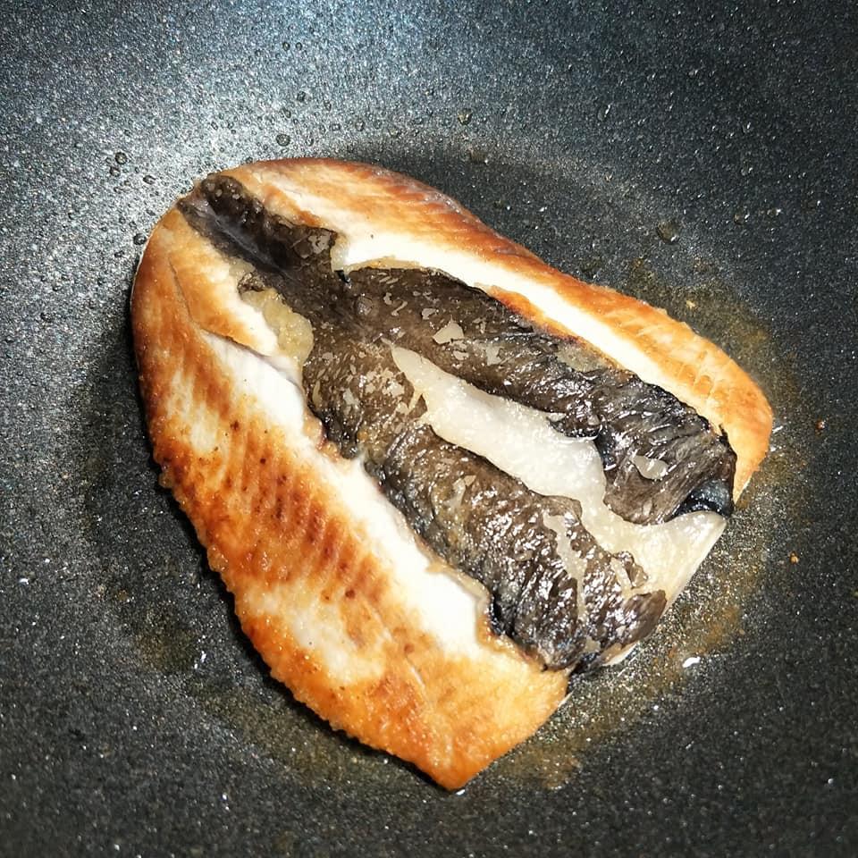 完全不需放油的輕鬆香煎虱目魚肚