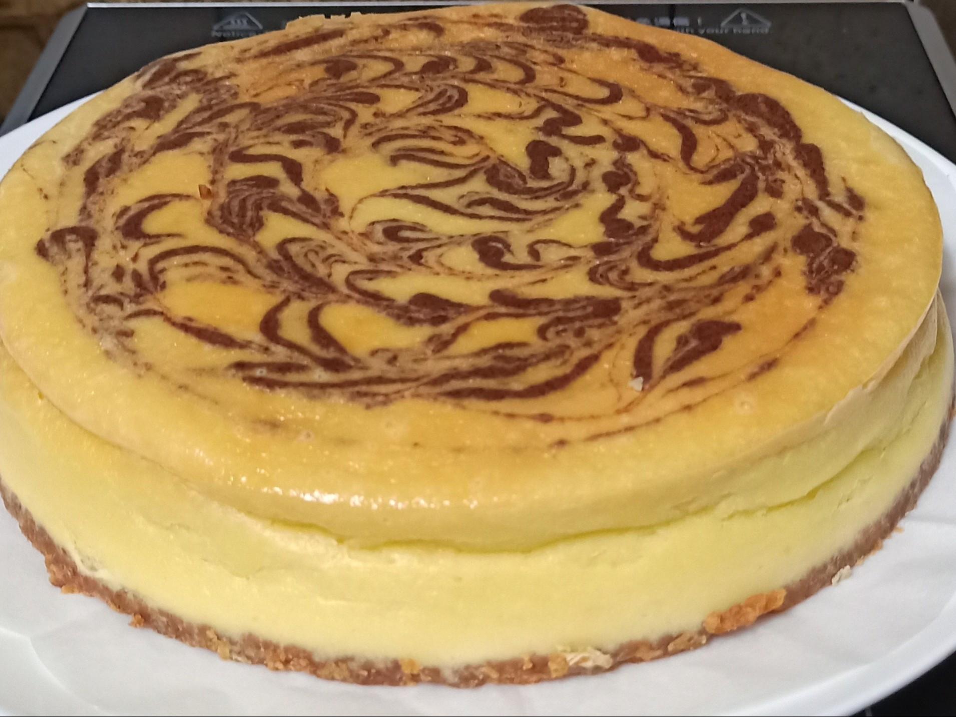 可可拉花重乳酪蛋糕