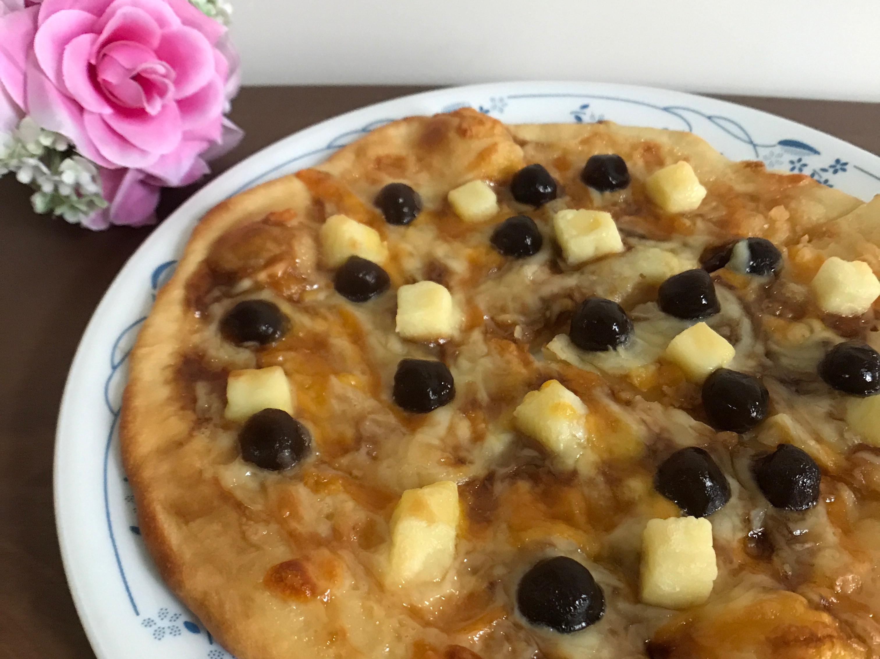 珍珠煉乳披薩