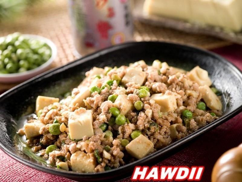 沙茶甜豆肉末豆腐