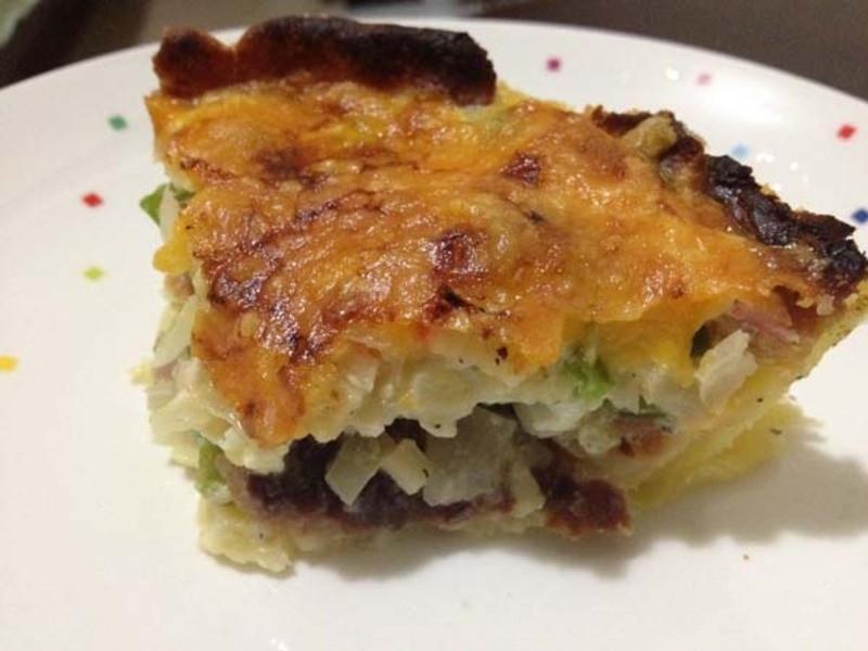 小烤箱完成-蔬菜鹹派!