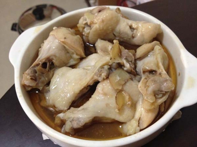 蒸麻油雞(電鍋料理)