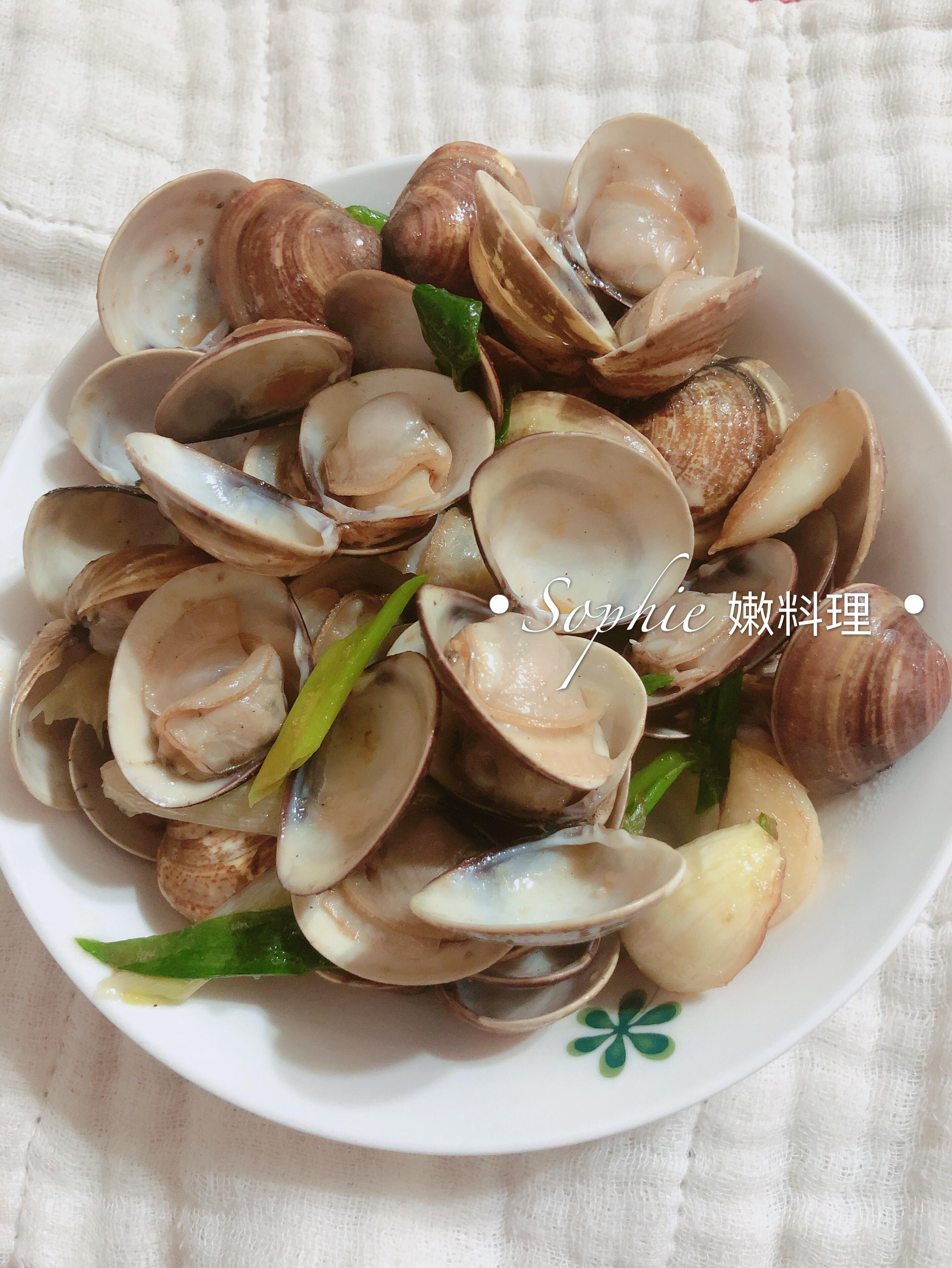 麻油炒蛤蜊