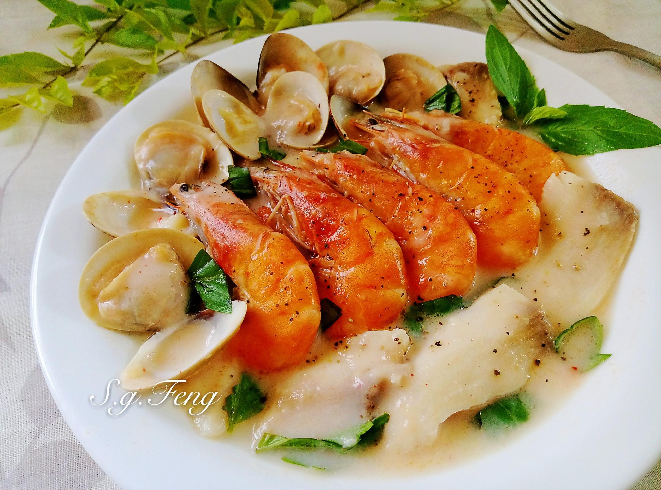 奶油白醬海鮮