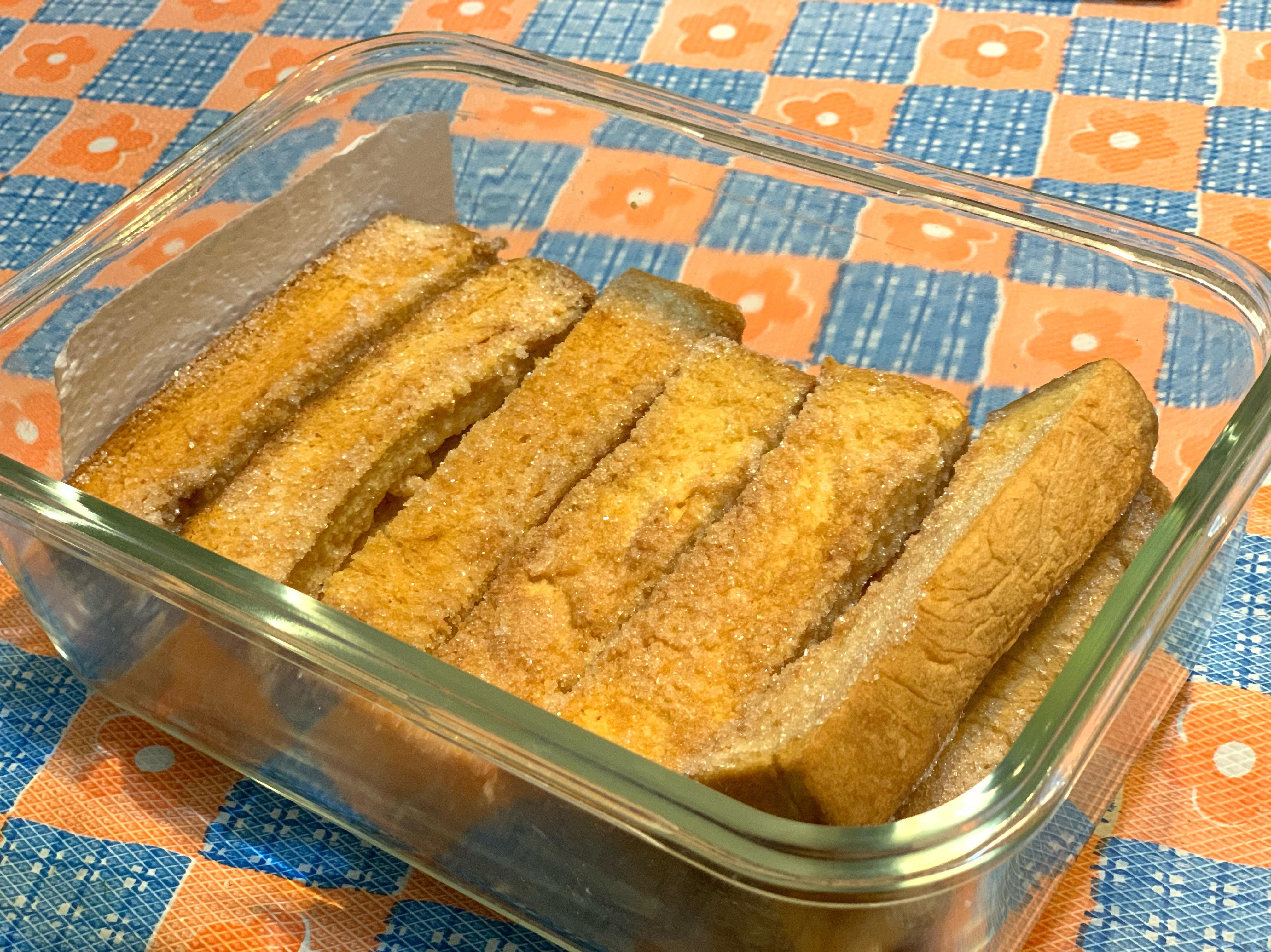 [四哥小廚房]酥烤吐司條