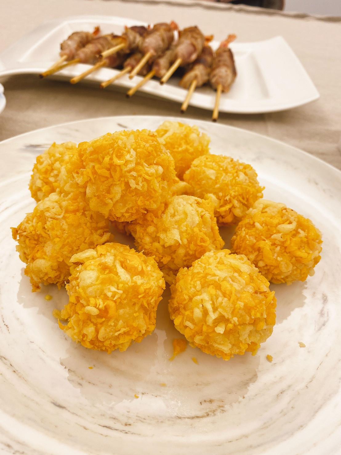 氣炸鍋料理 <海鮮> 爆醬起司蝦球