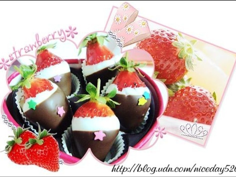 鮮草莓蘸巧克力