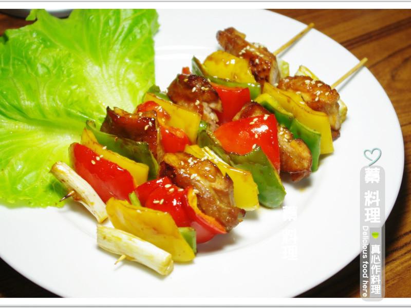 串烤彩椒雞肉