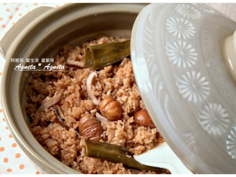 [阿妮塔♥yummy] 秋~栗子香菇炊飯。