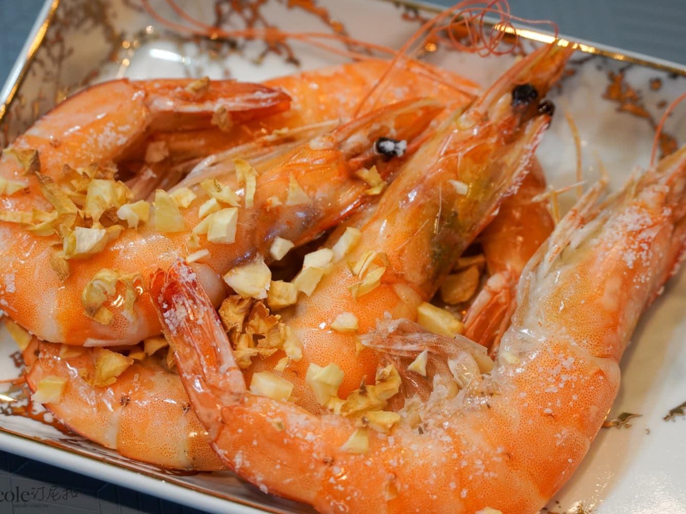 蒜末氣炸椒鹽蝦