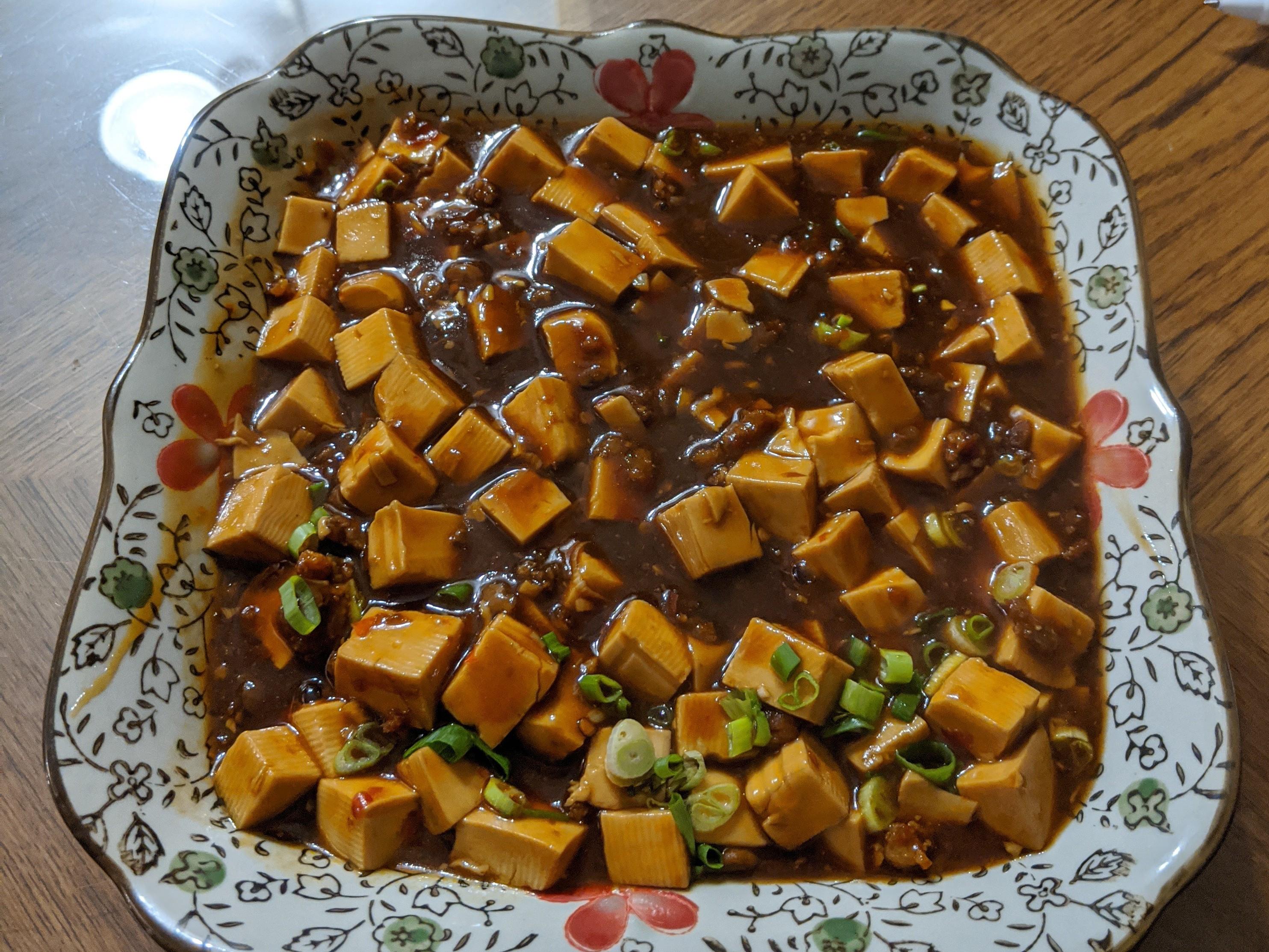 麻婆豆腐(這次煮得太鹹了)