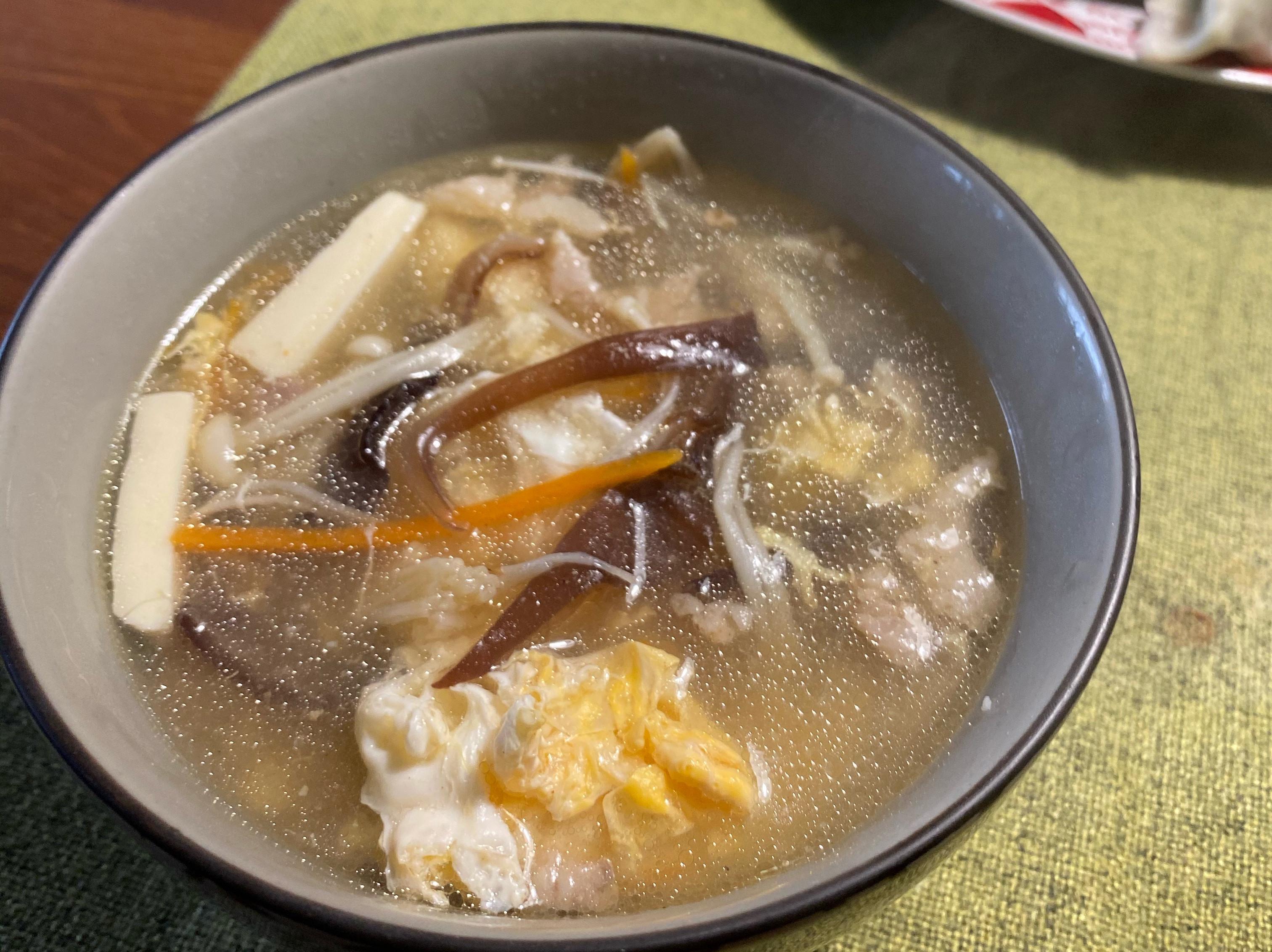 簡易酸辣湯
