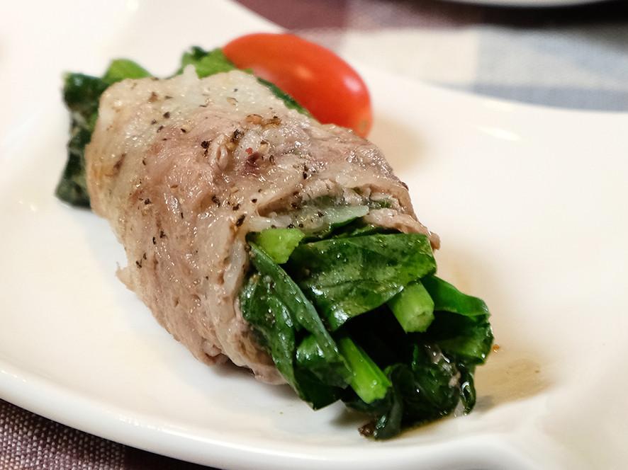 【低醣生酮便當主菜】菠菜牛肉捲