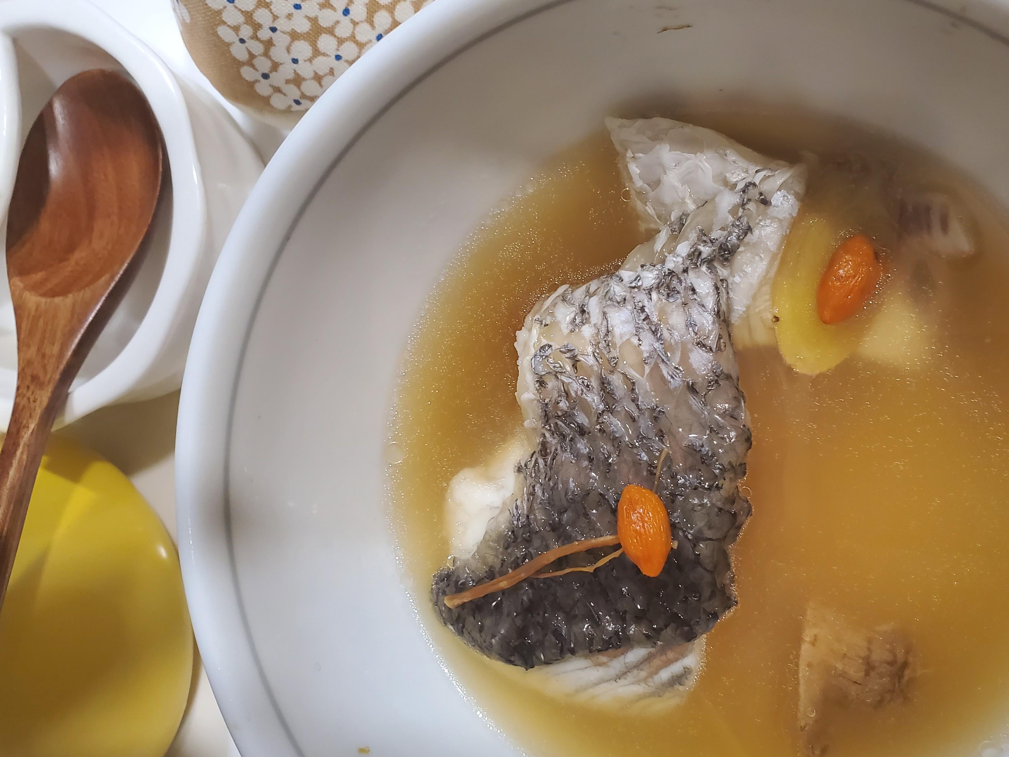 鱸魚湯 (微波爐版)