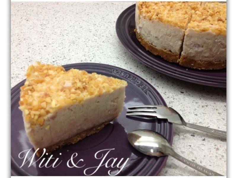 "[Witi✿Kitchen]""免烤""芋泥cheeses cake起司乳酪蛋糕"