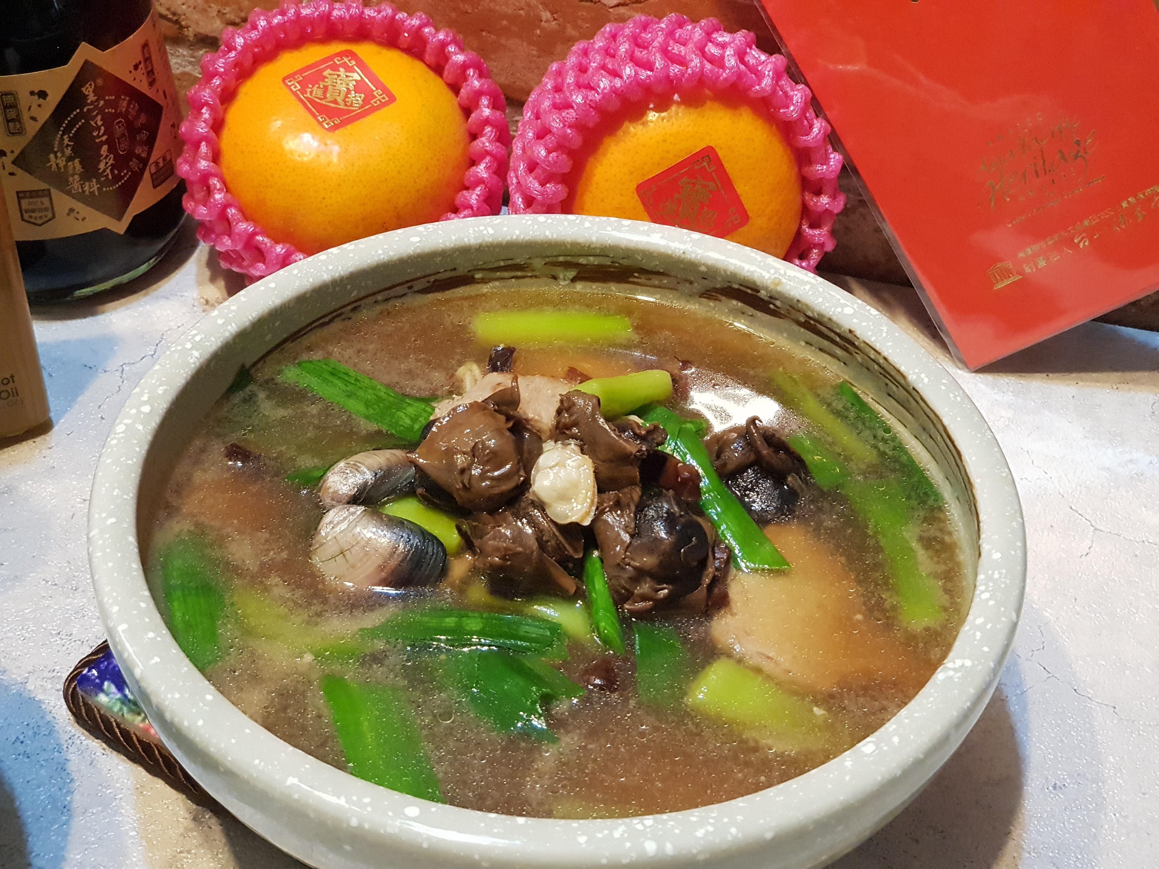 魷魚螺肉蒜湯~懷念的溫暖古早味