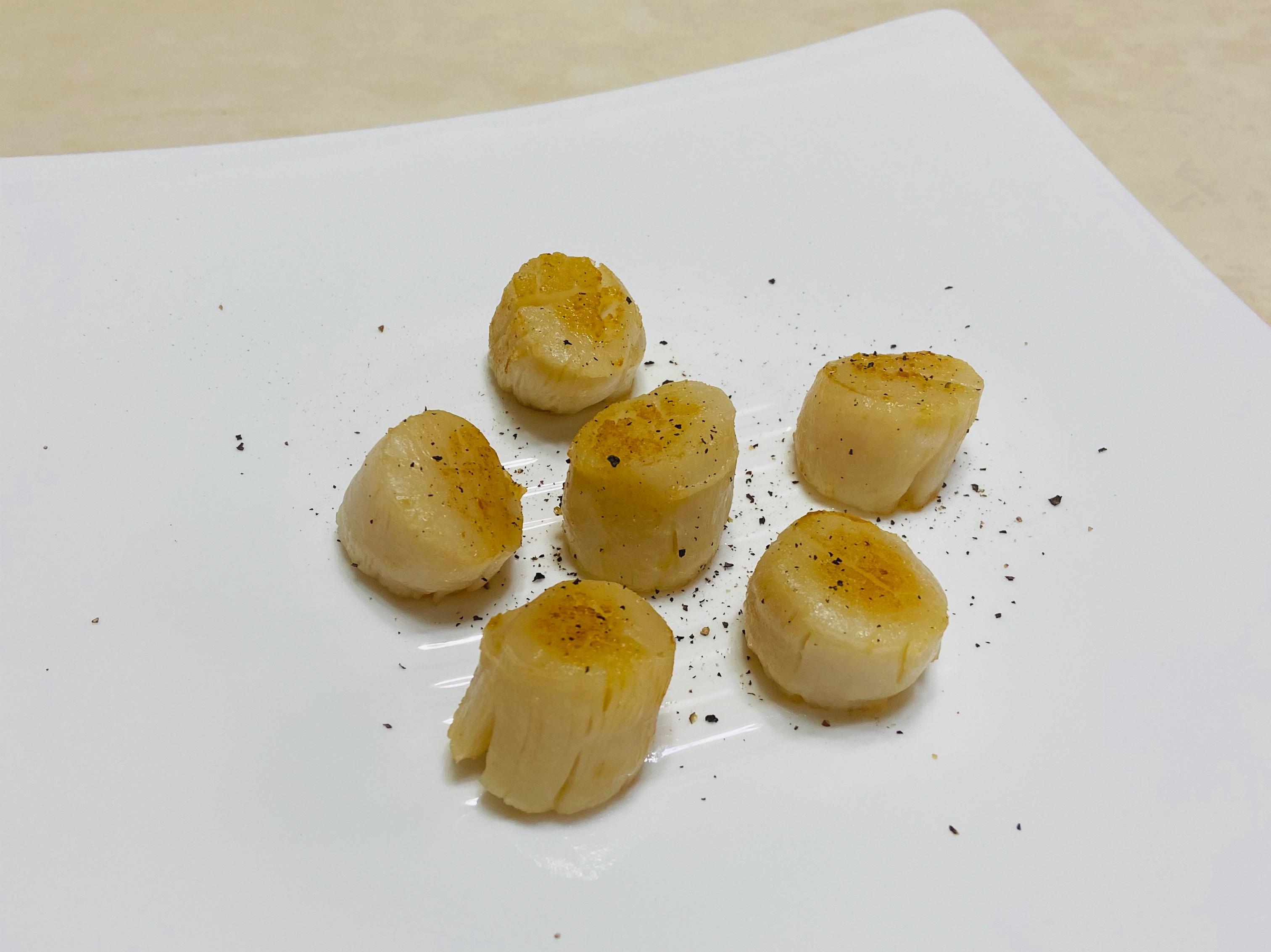 奶油香煎干貝