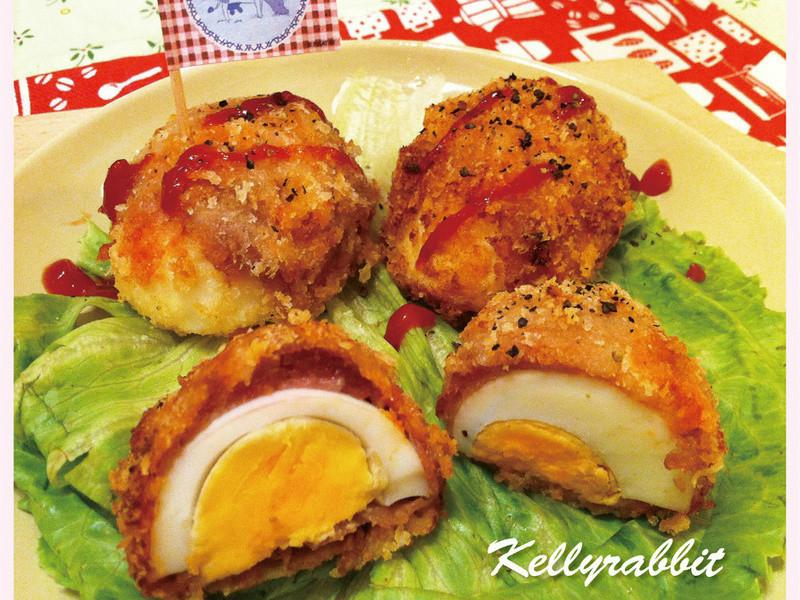「亨氏番茄醬 100% 純天然」酥脆紅色炸蛋