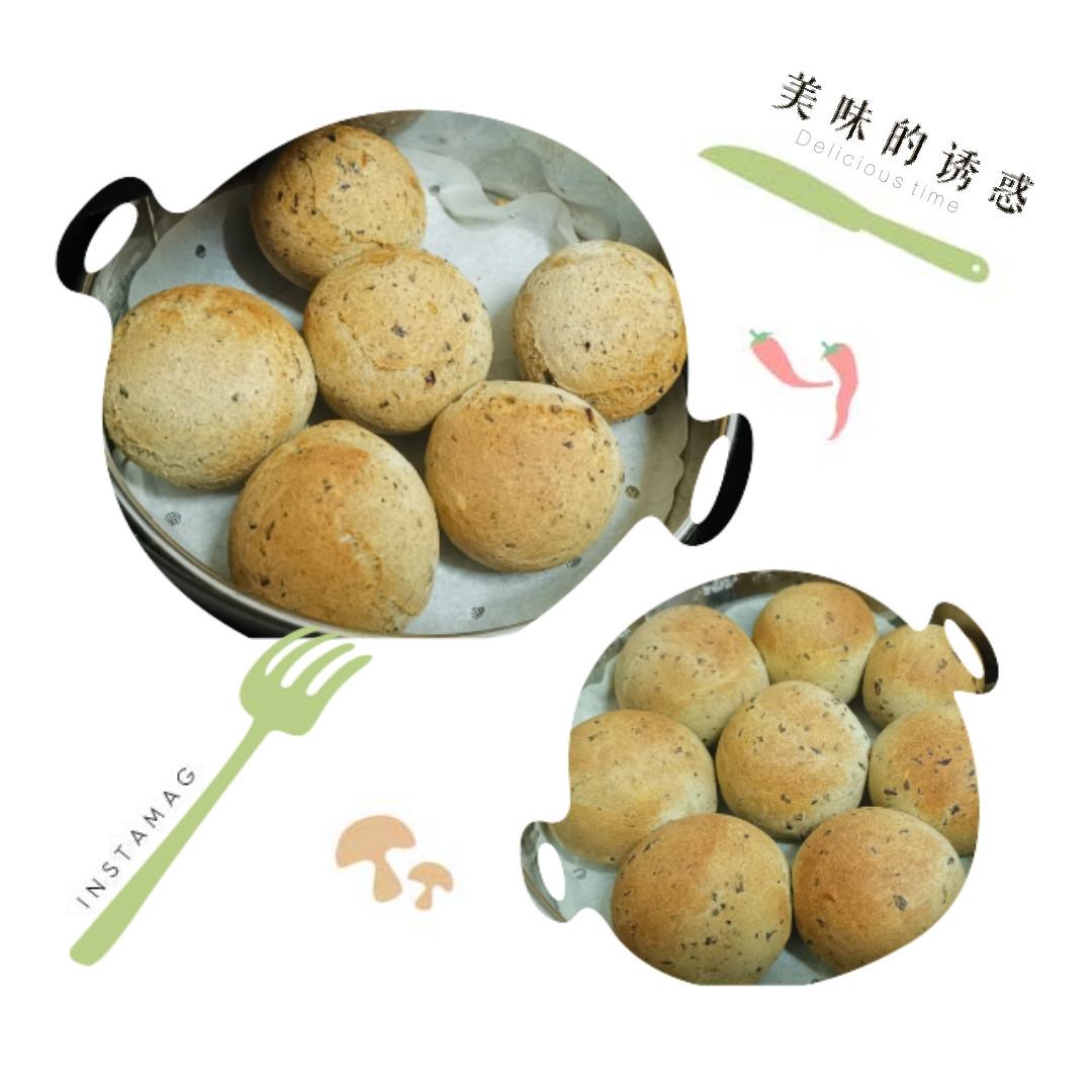 抹茶紅豆韓國麵包~我愛氣炸鍋系列