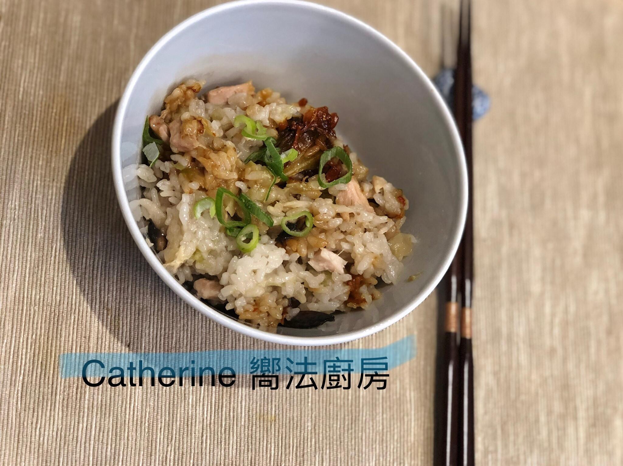 簡易電鍋麻油雞飯