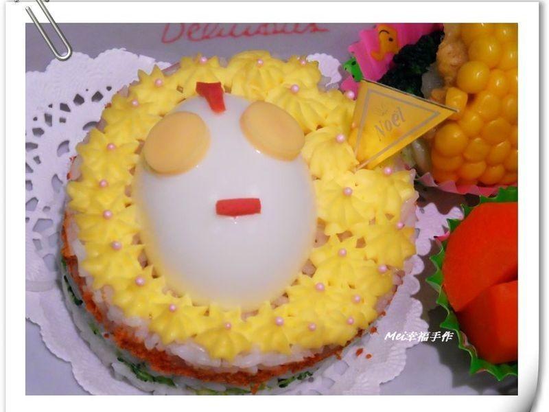 【親子食堂】鹹蛋超人蛋糕造型飯飯