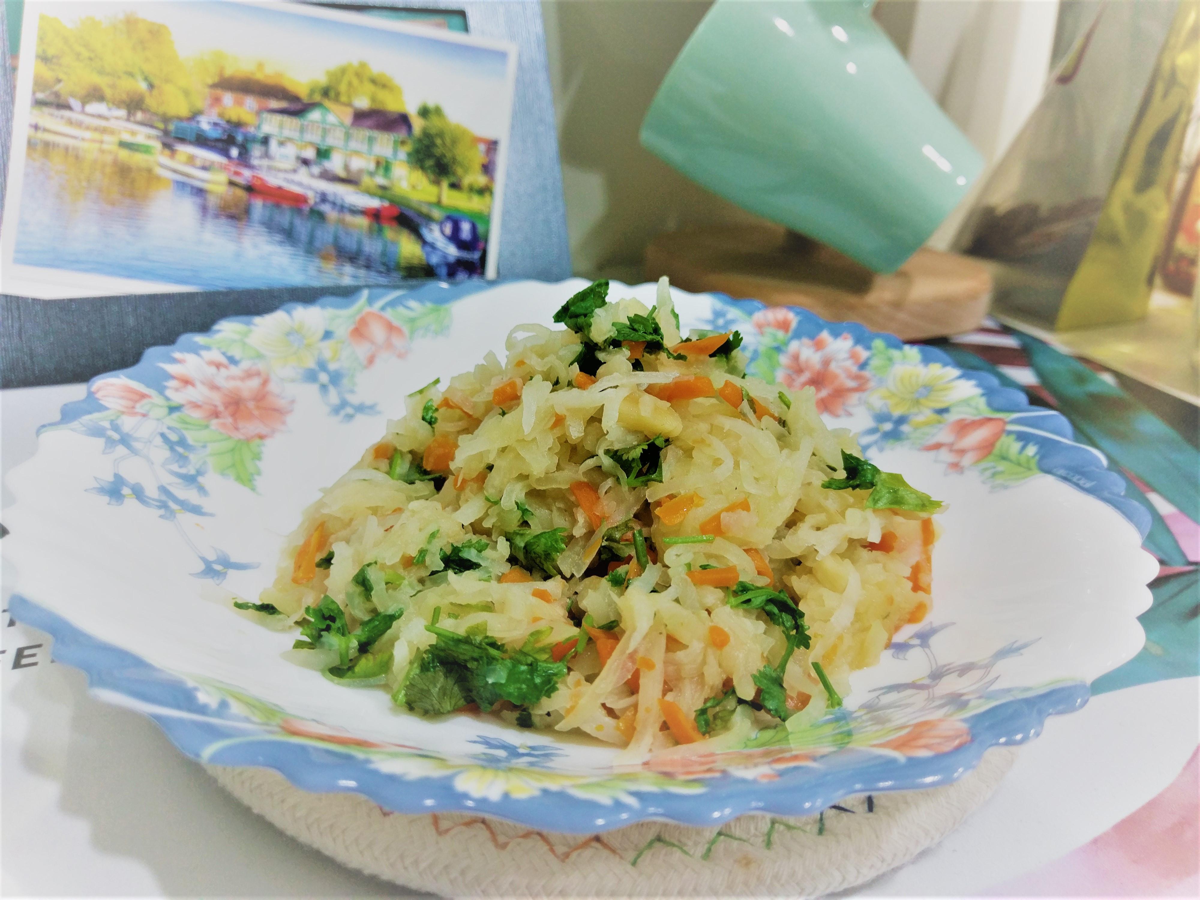 紅蘿蔔清炒大頭菜