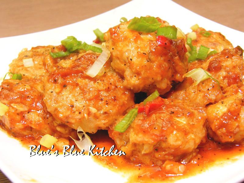 [亨氏番茄醬100%純天然]-醬燒高麗菜肉丸子