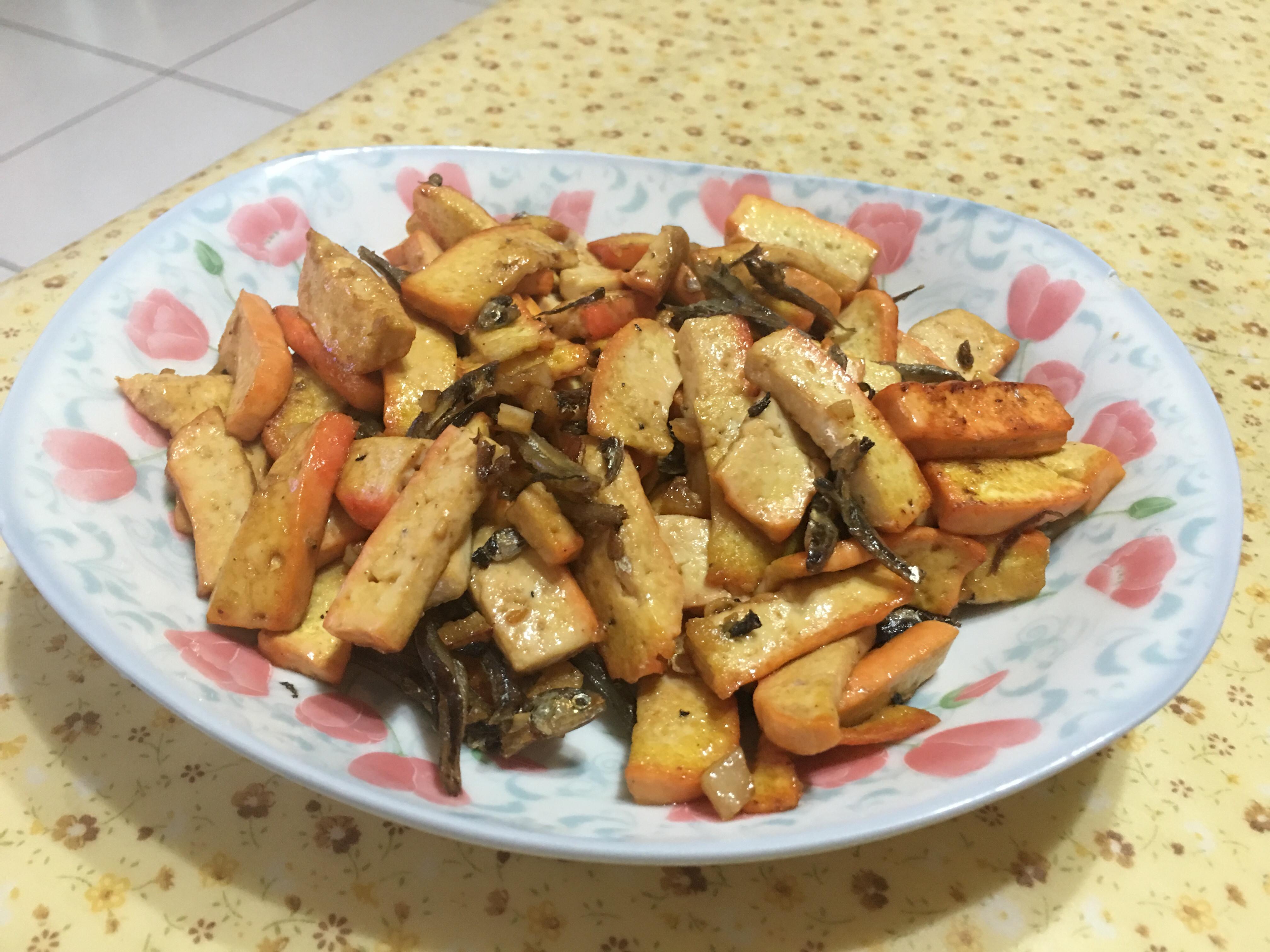 小魚干炒豆乾