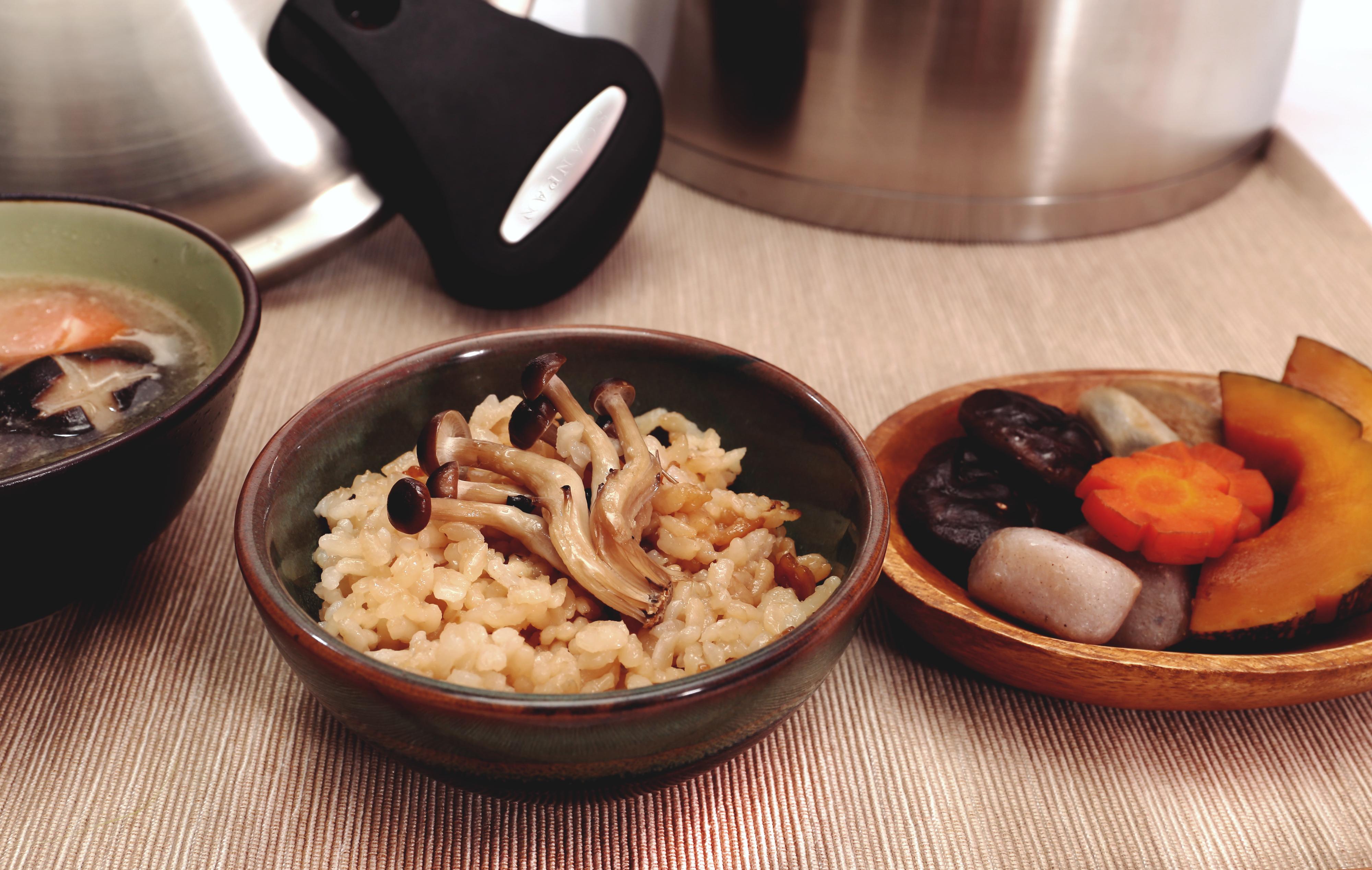 菇菇炊飯, 日式煮物, 法式雞肉湯