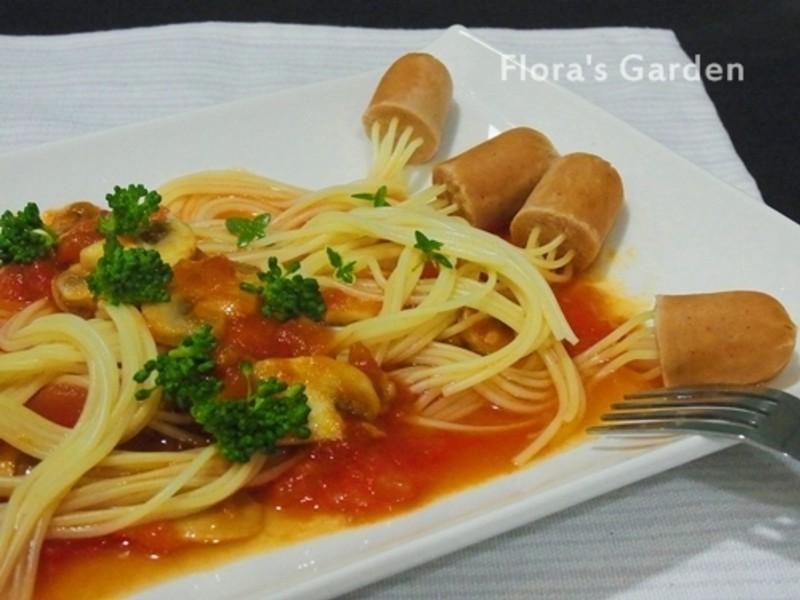 「亨氏番茄醬‧100%純天然」海綿寶寶水母樂園~水母義大利麵