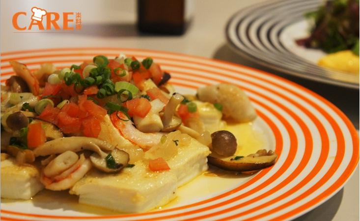 [薇達樂料理]魚香野菇蝦豆腐