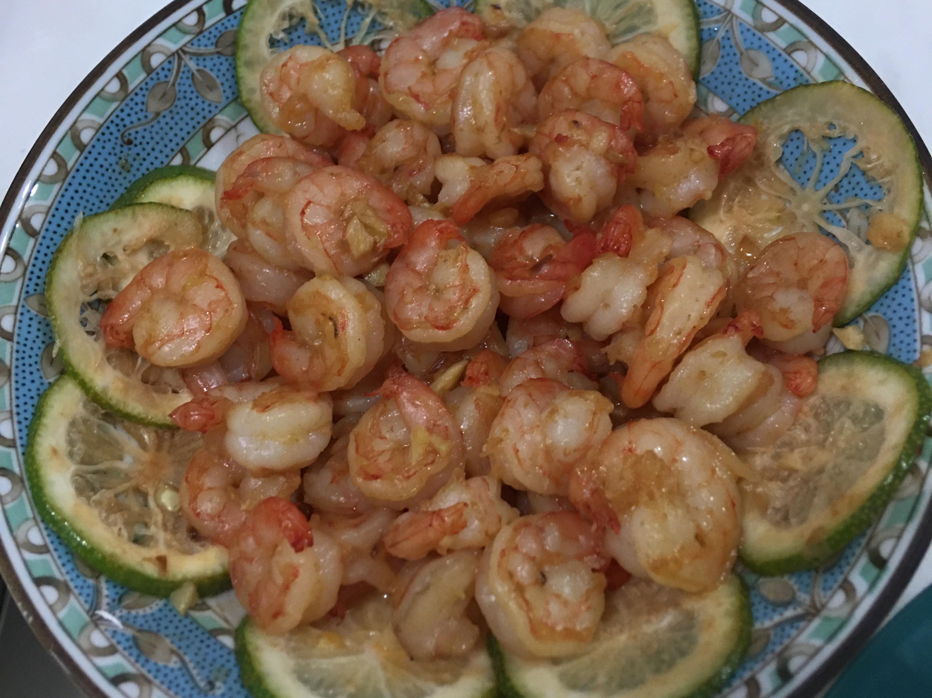 蒜香奶油檸檬蝦