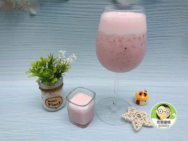蔓越莓水果優格冰沙醋飲