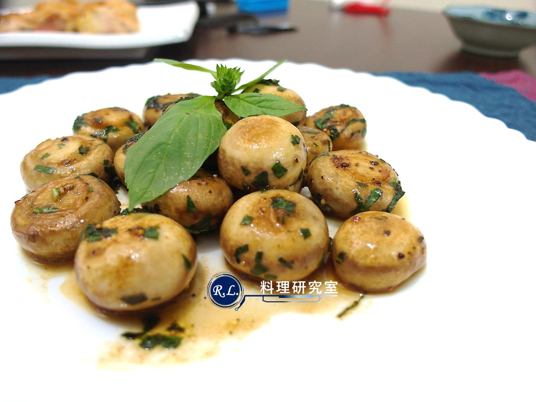 【家常菜】塔香奶油蘑菇(15分鐘上菜)