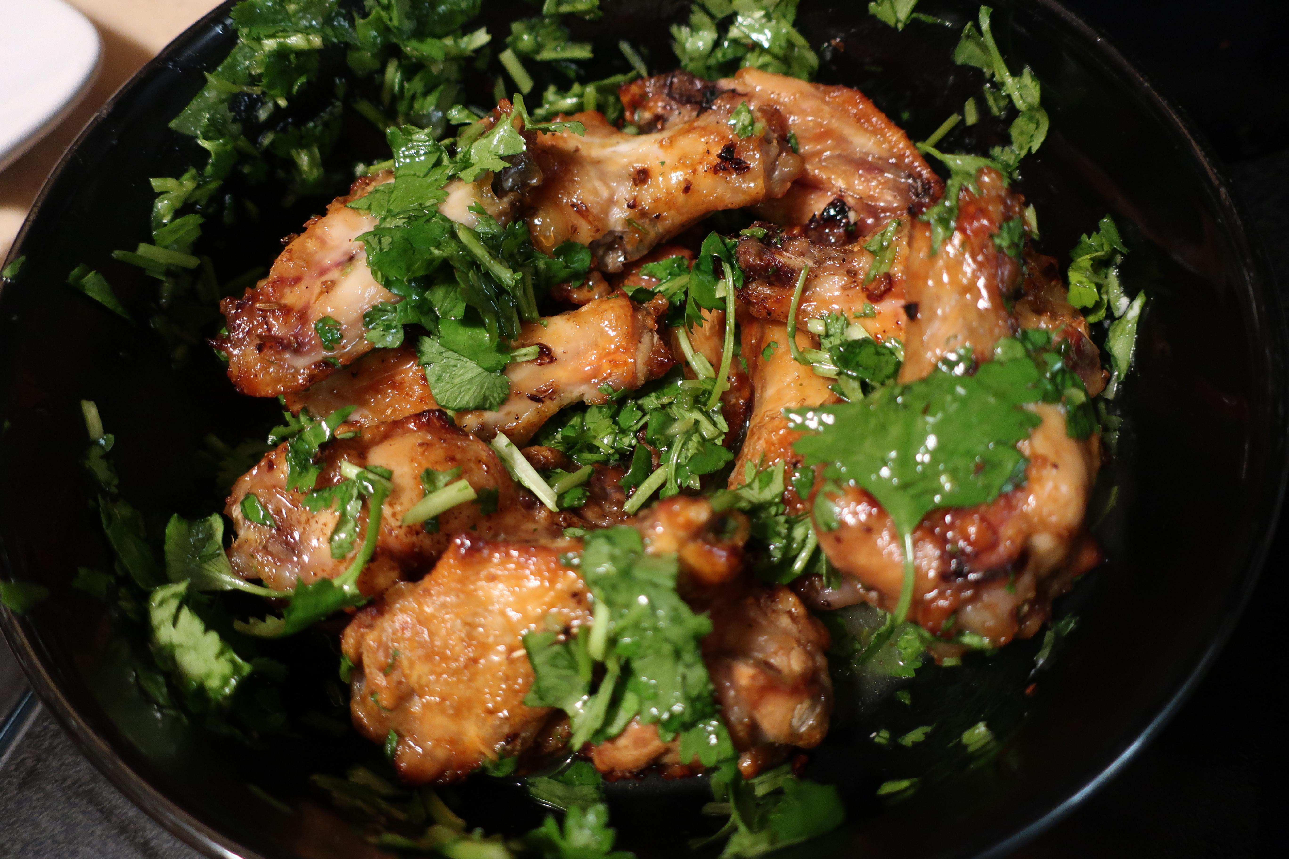蜂蜜萊姆香菜烤雞翅