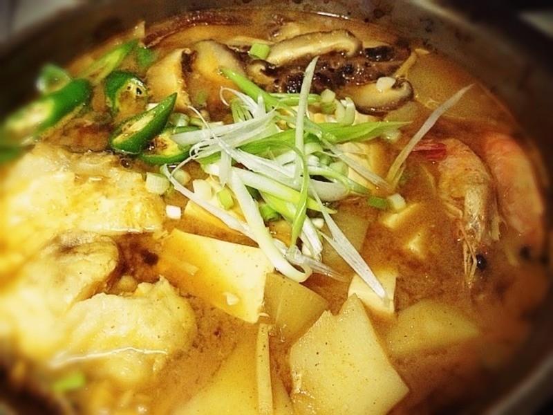 《辣魚片豆腐煲》---韓式料理