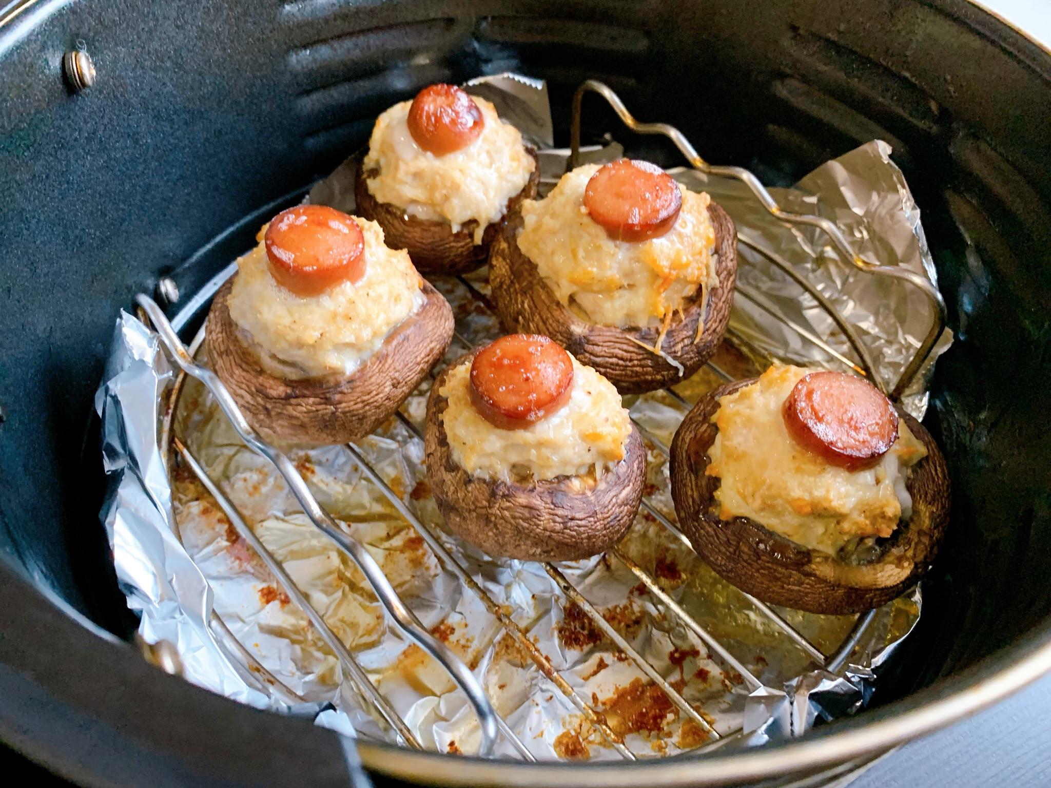 氣炸鍋:香菇鑲肉