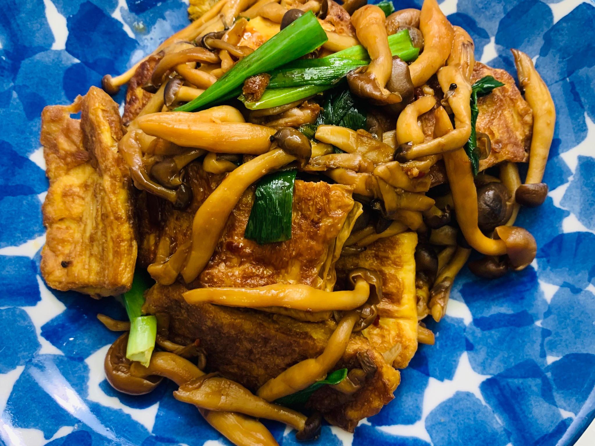 お弁当-200305-辣味照燒豆皮鴻禧菇