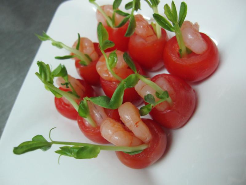 甜蜜蜜昱光廚房 ✎手作-03✿鮮蝦蕃茄小花盆✿