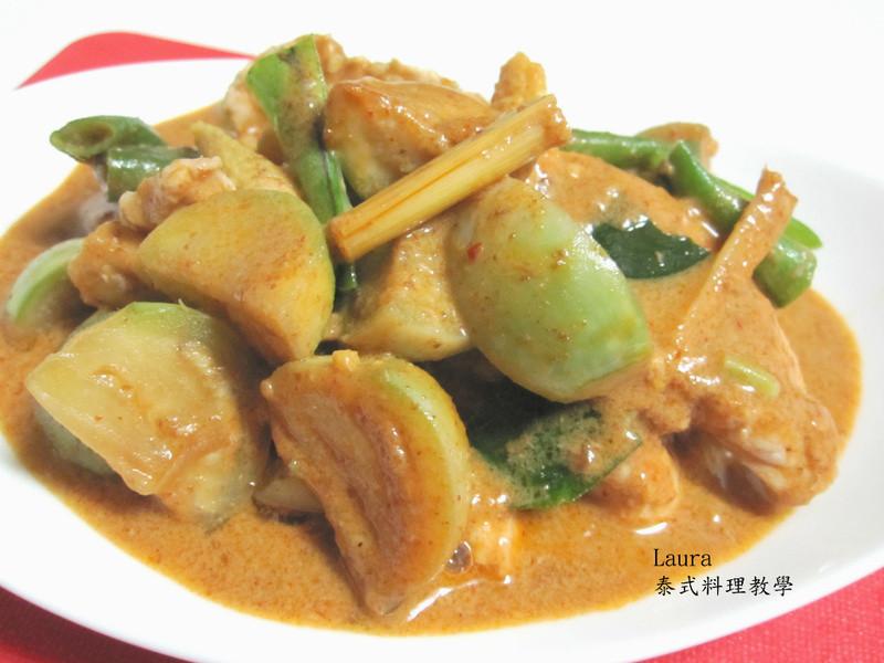 ♦泰泰風食尚廚房♦帕能咖哩炒圓茄雞肉
