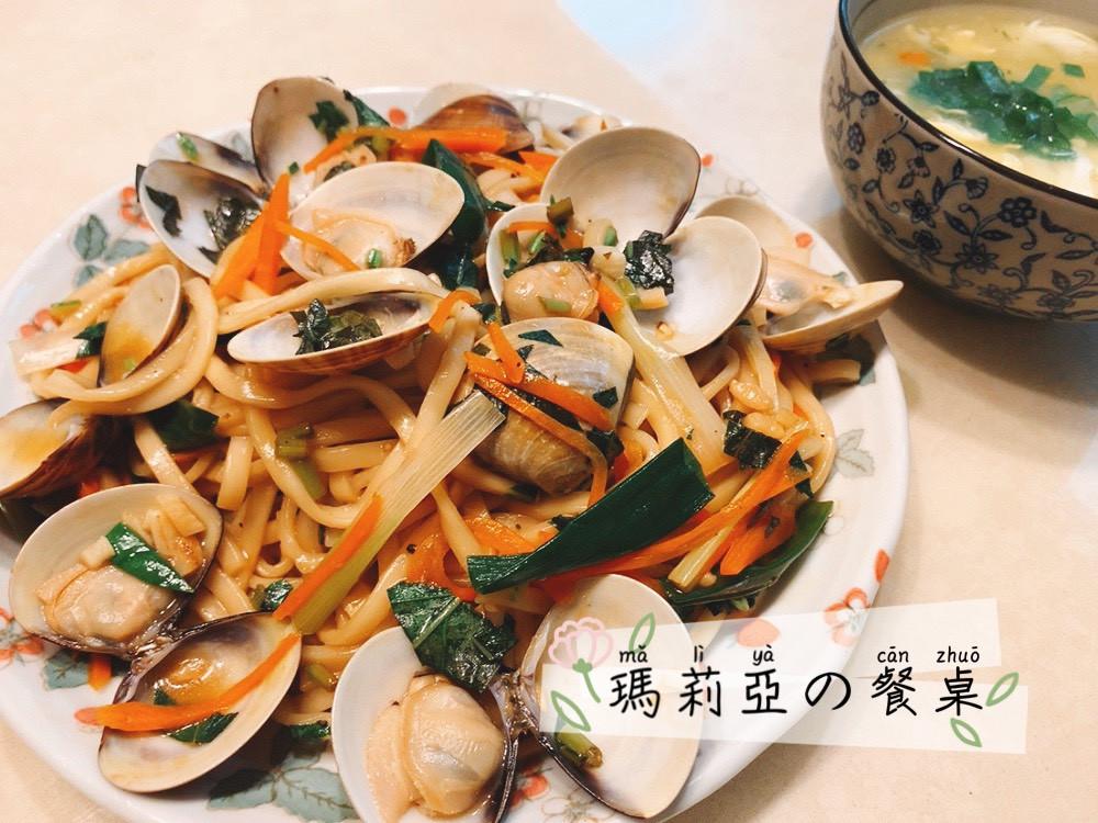 塔香蛤蠣炒麵 ~ 快速上桌!