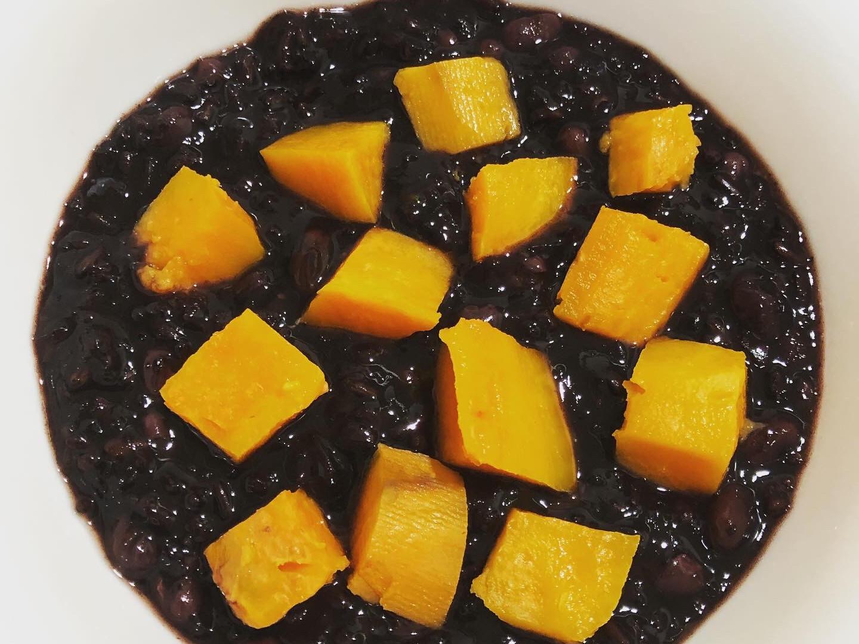 低碘「地瓜紫米紅豆粥」